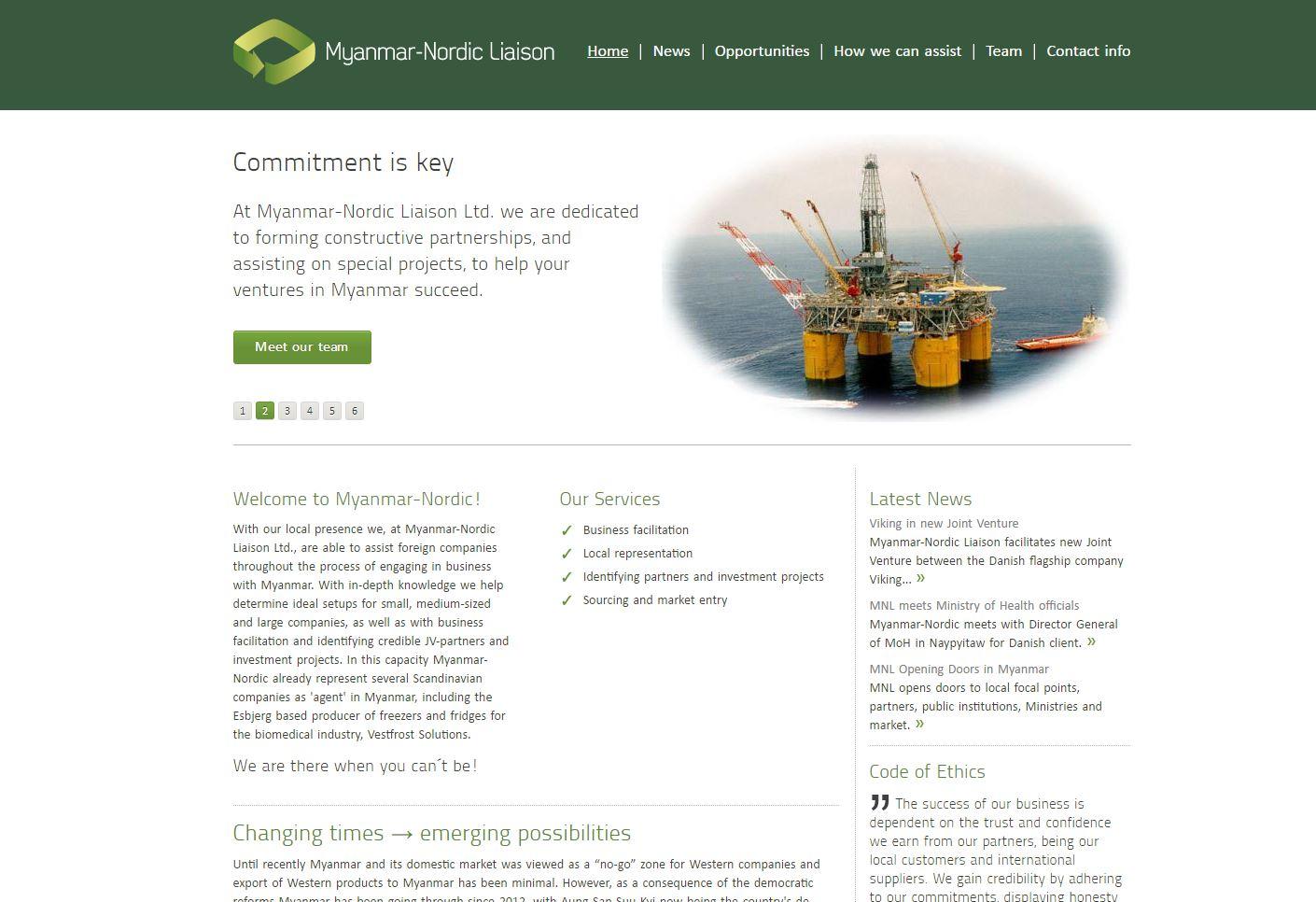 Myanmar-Nordic Liaison - Area Digital - Web Design Agency